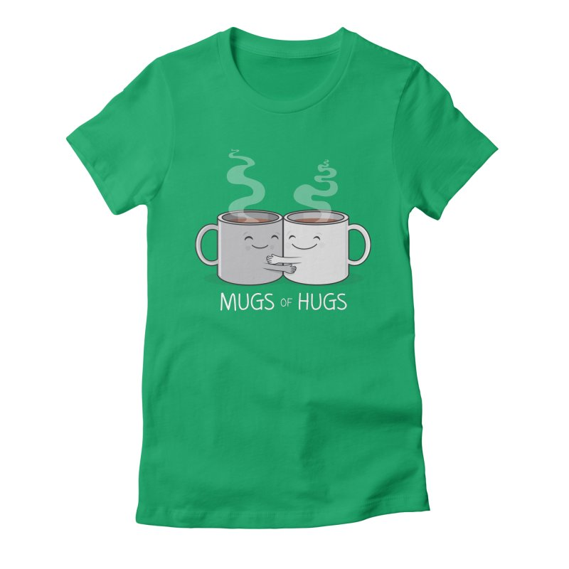 Mugs of Hugs Women's Fitted T-Shirt by wotto's Artist Shop