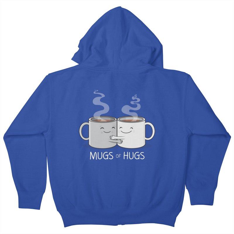 Mugs of Hugs Kids Zip-Up Hoody by wotto's Artist Shop