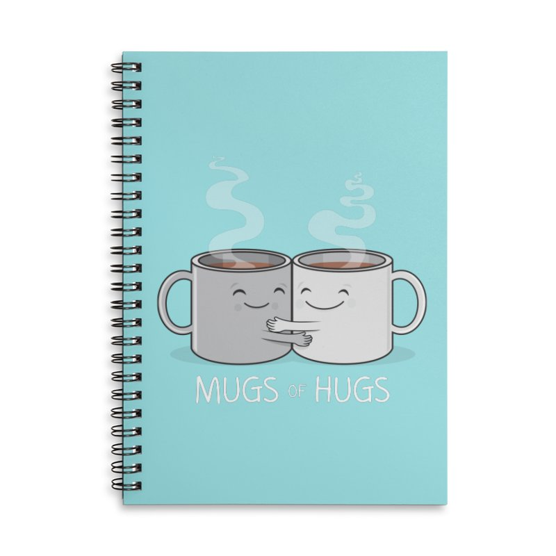 Mugs of Hugs Accessories Lined Spiral Notebook by wotto's Artist Shop