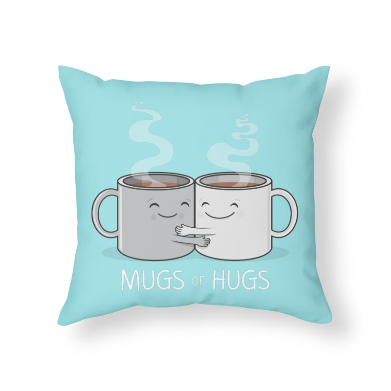 Mugs of Hugs Home Throw Pillow by wotto's Artist Shop