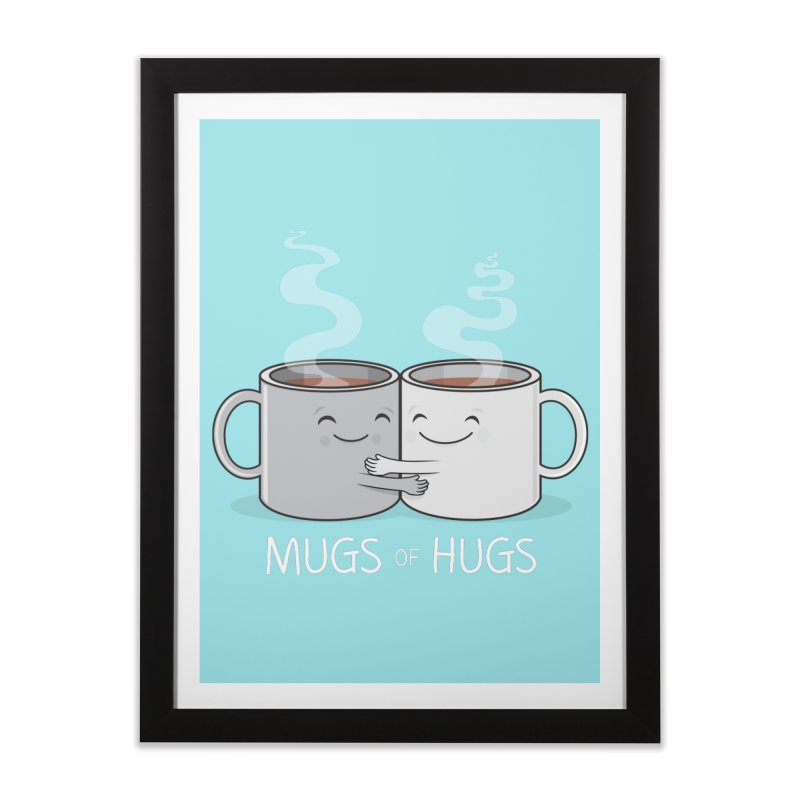 Mugs of Hugs Home Framed Fine Art Print by wotto's Artist Shop