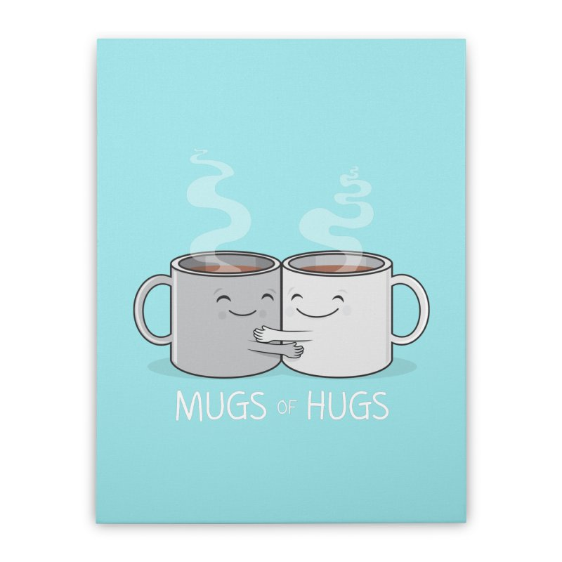Mugs of Hugs Home Stretched Canvas by wotto's Artist Shop