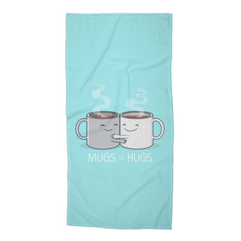 Mugs of Hugs Accessories Beach Towel by wotto's Artist Shop