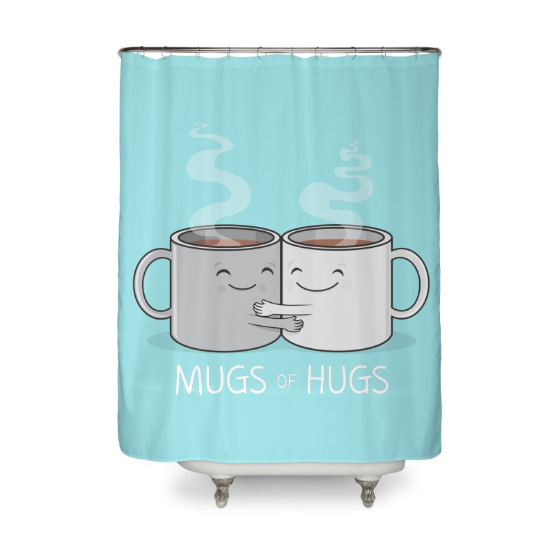 Mugs of Hugs Home Shower Curtain by wotto's Artist Shop