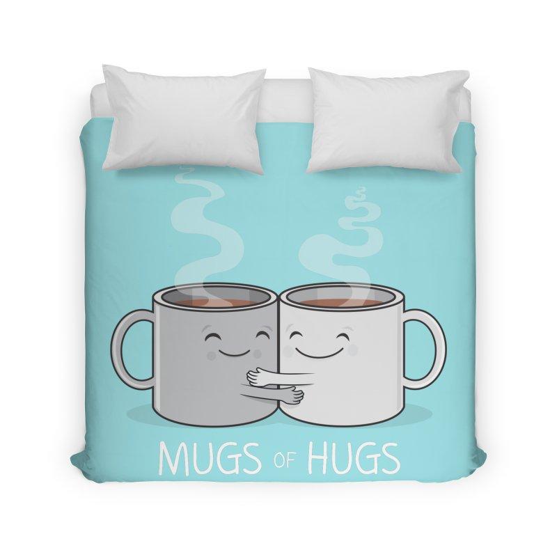 Mugs of Hugs Home Duvet by wotto's Artist Shop