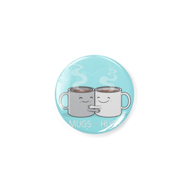 Mugs of Hugs Accessories Button by wotto's Artist Shop