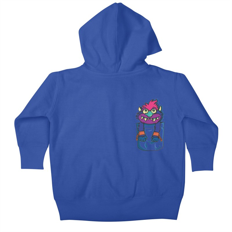 Monster In My Pocket Kids Baby Zip-Up Hoody by wotto's Artist Shop