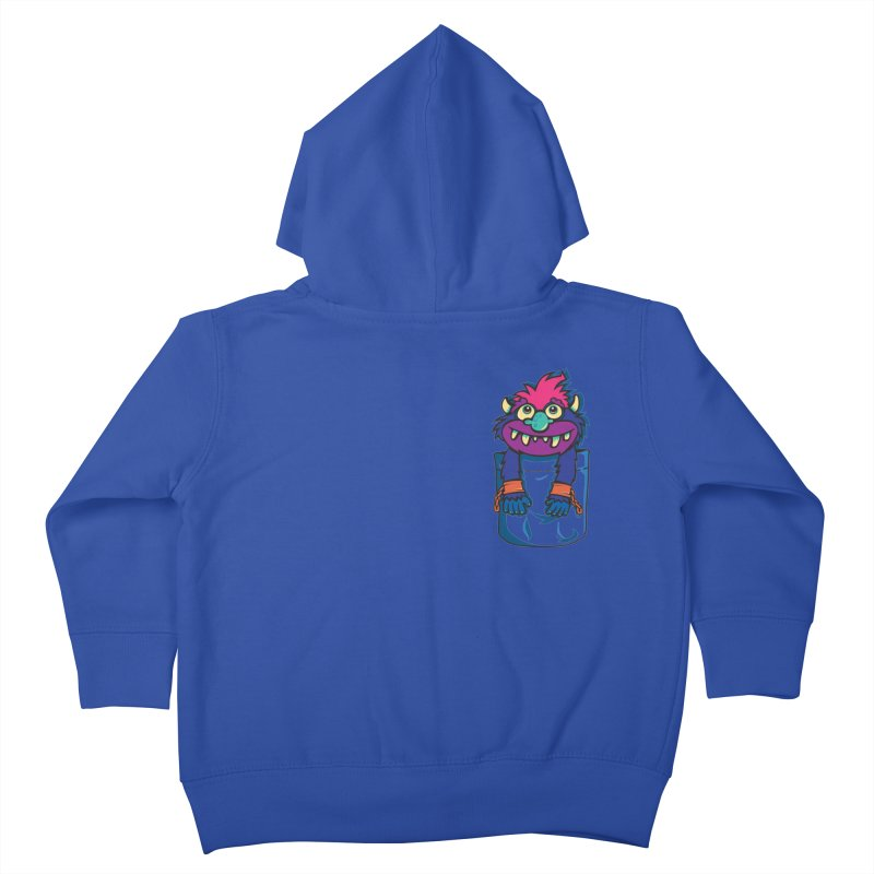 Monster In My Pocket Kids Toddler Zip-Up Hoody by wotto's Artist Shop