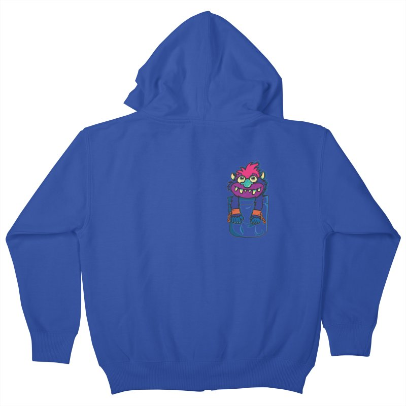 Monster In My Pocket Kids Zip-Up Hoody by wotto's Artist Shop