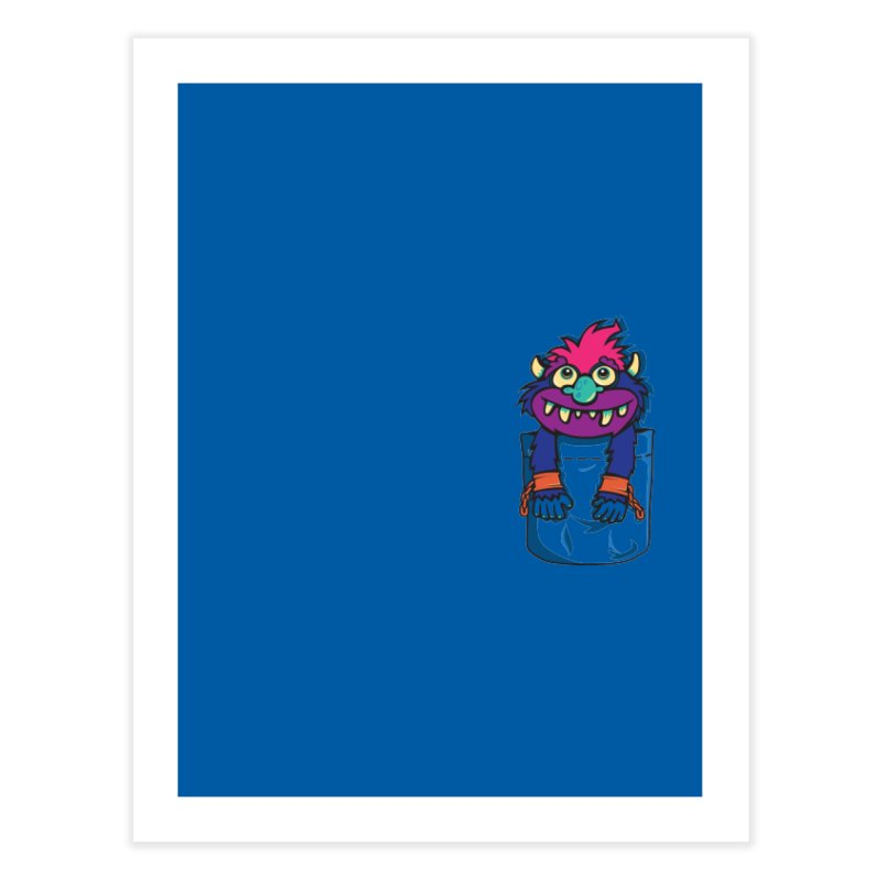 Monster In My Pocket Home Fine Art Print by wotto's Artist Shop