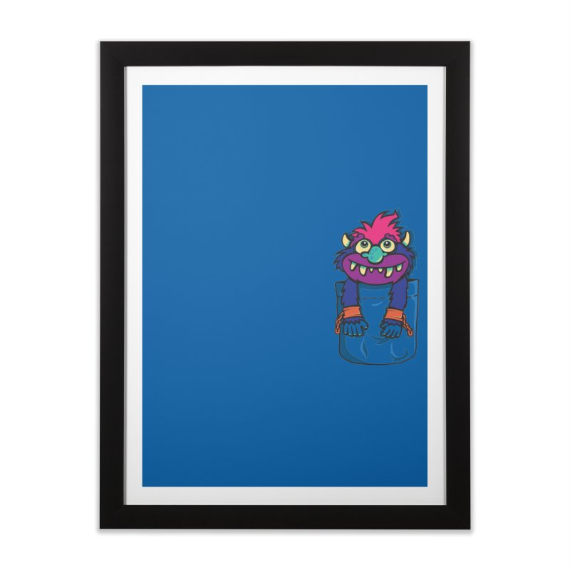 Monster In My Pocket Home Framed Fine Art Print by wotto's Artist Shop