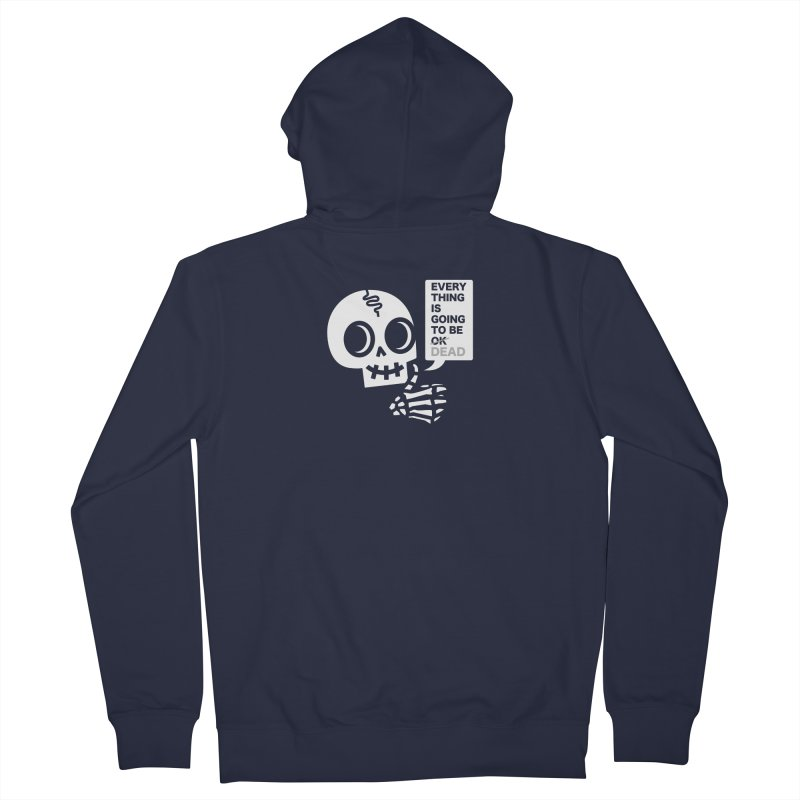 Not OK Women's French Terry Zip-Up Hoody by wotto's Artist Shop