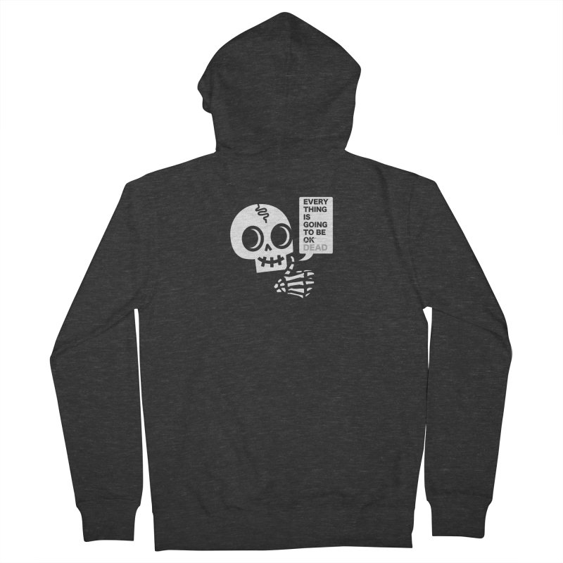 Not OK Men's French Terry Zip-Up Hoody by wotto's Artist Shop