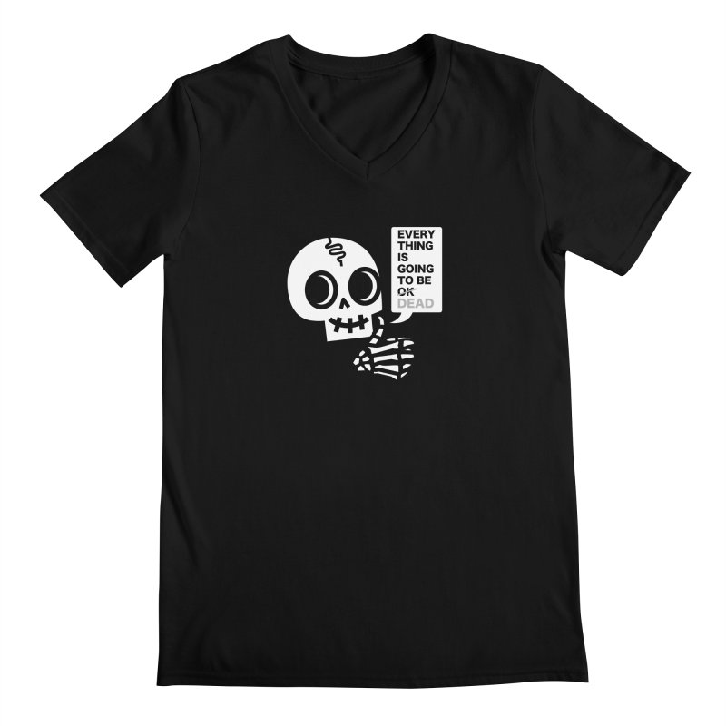 Not OK Men's V-Neck by wotto's Artist Shop