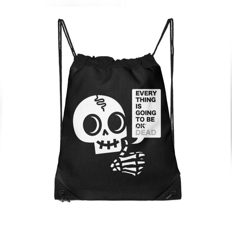 Not OK Accessories Drawstring Bag Bag by wotto's Artist Shop