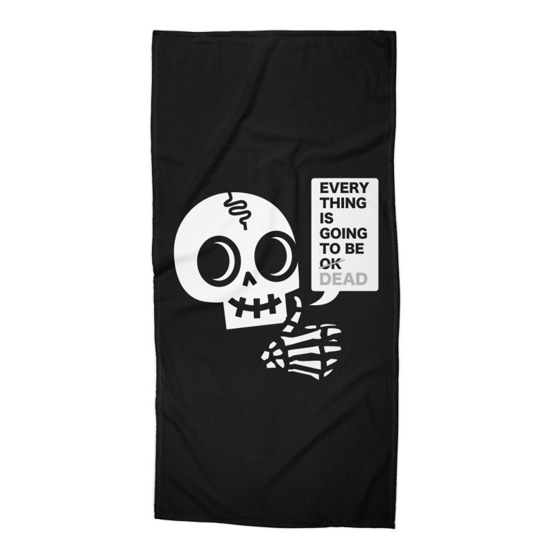 Not OK Accessories Beach Towel by wotto's Artist Shop