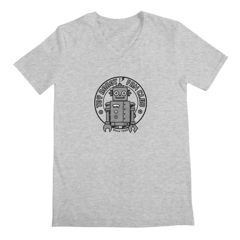 Toy Robot Fan Club Men's Regular V-Neck by wotto's Artist Shop