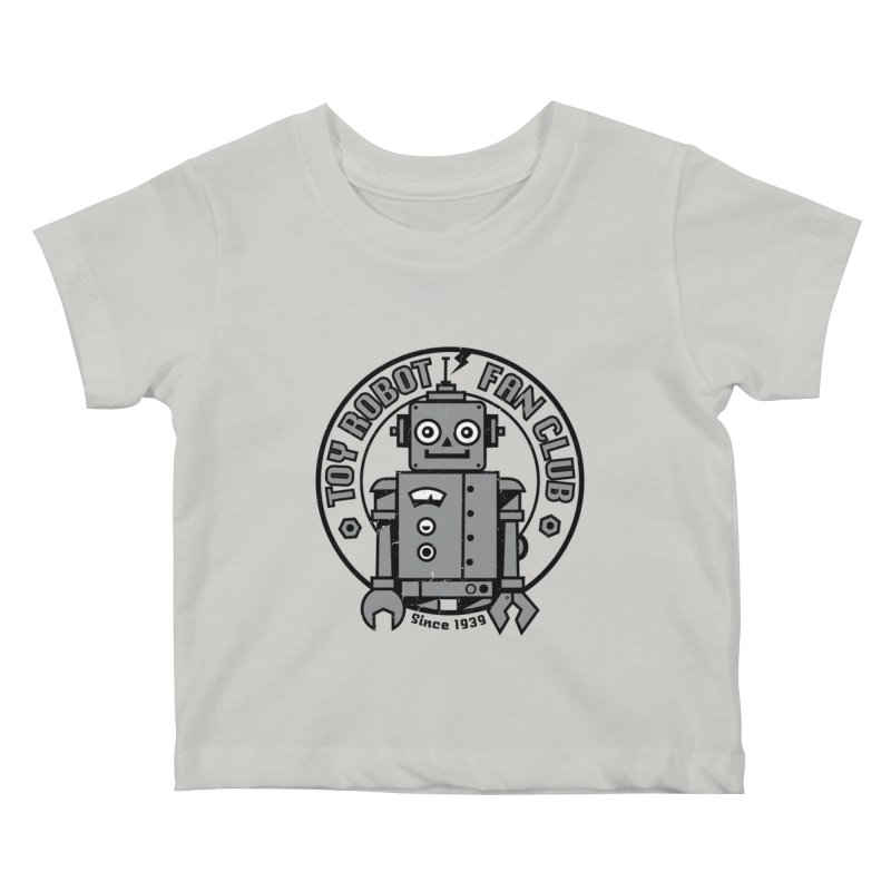 Toy Robot Fan Club Kids Baby T-Shirt by wotto's Artist Shop