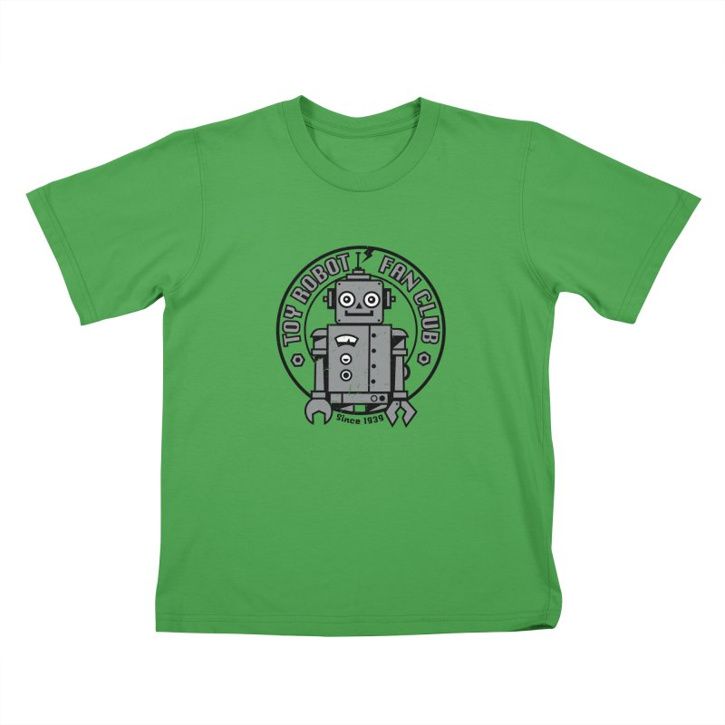 Toy Robot Fan Club Kids T-Shirt by wotto's Artist Shop