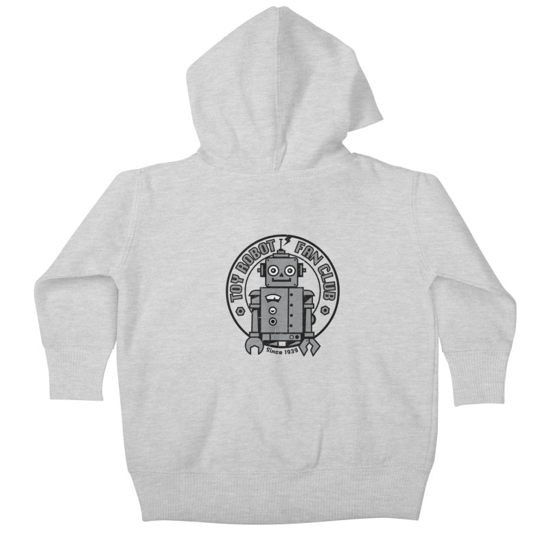 Toy Robot Fan Club Kids Baby Zip-Up Hoody by wotto's Artist Shop