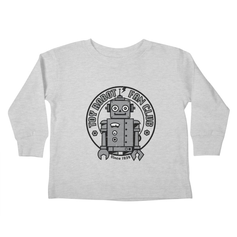 Toy Robot Fan Club Kids Toddler Longsleeve T-Shirt by wotto's Artist Shop