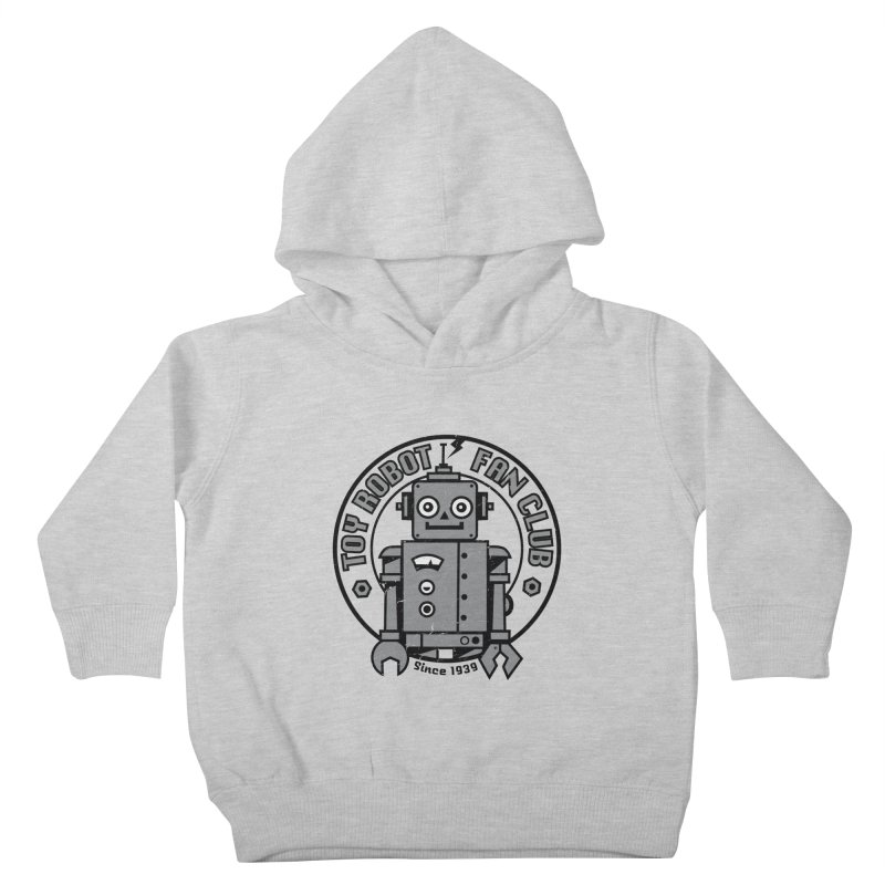 Toy Robot Fan Club Kids Toddler Pullover Hoody by wotto's Artist Shop