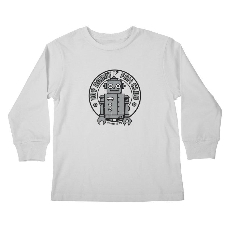 Toy Robot Fan Club Kids Longsleeve T-Shirt by wotto's Artist Shop