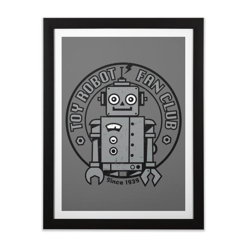 Toy Robot Fan Club Home Framed Fine Art Print by wotto's Artist Shop