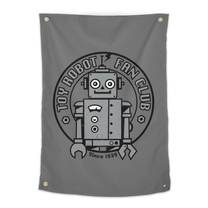 Toy Robot Fan Club Home Tapestry by wotto's Artist Shop