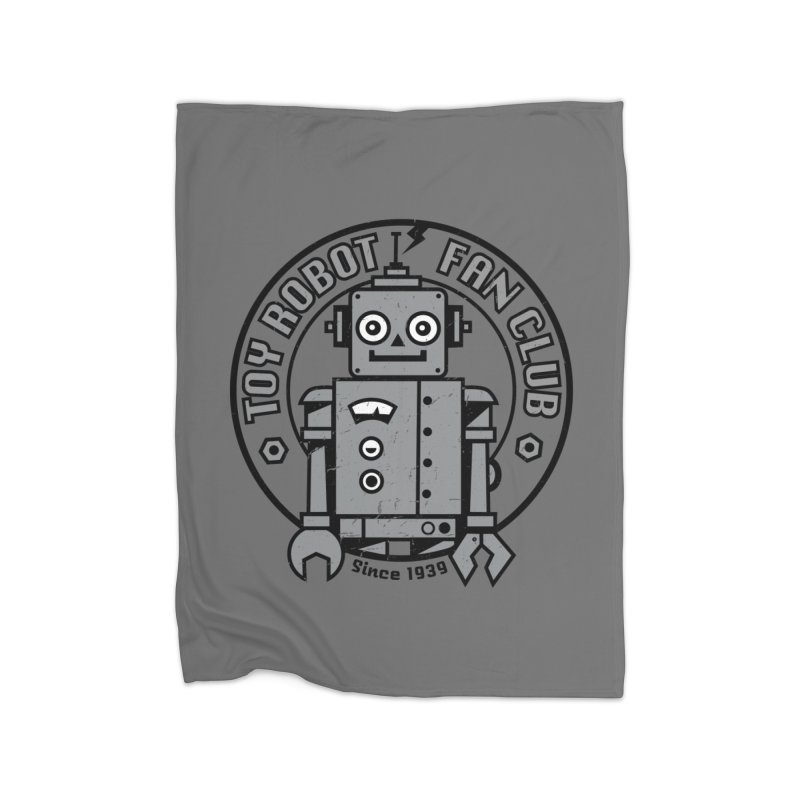Toy Robot Fan Club Home Blanket by wotto's Artist Shop