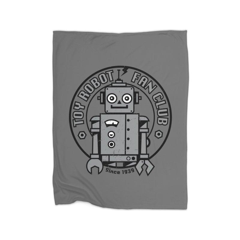 Toy Robot Fan Club Home Fleece Blanket Blanket by wotto's Artist Shop