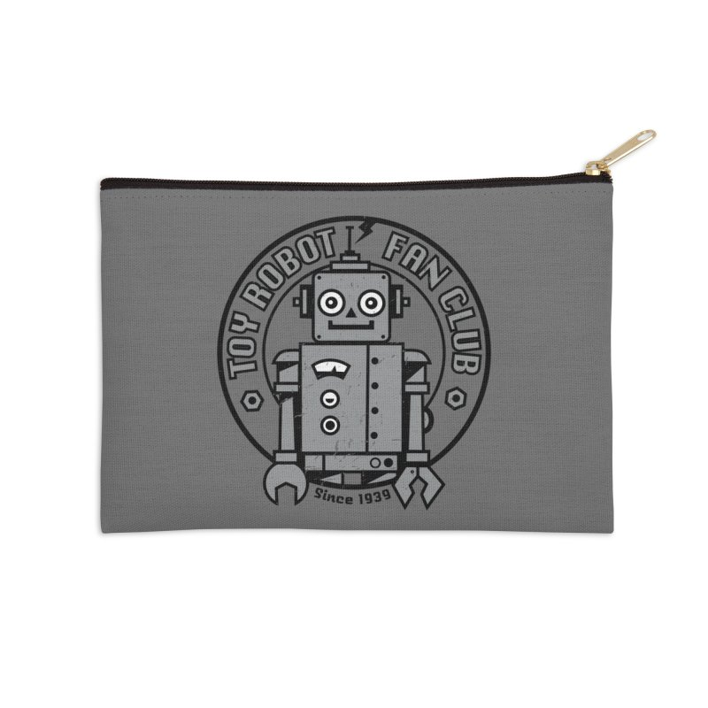 Toy Robot Fan Club Accessories Zip Pouch by wotto's Artist Shop