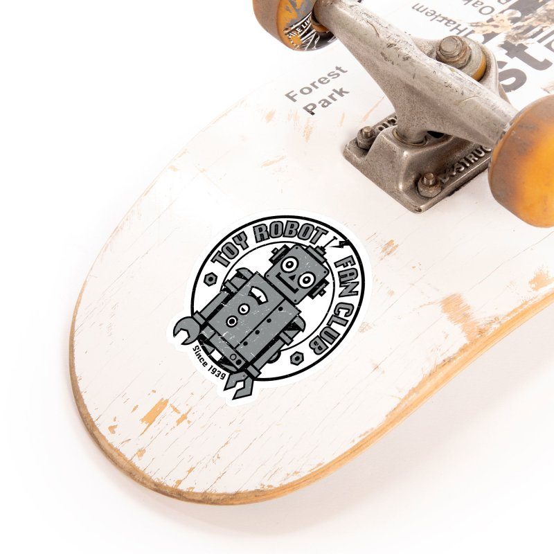 Toy Robot Fan Club Accessories Sticker by wotto's Artist Shop