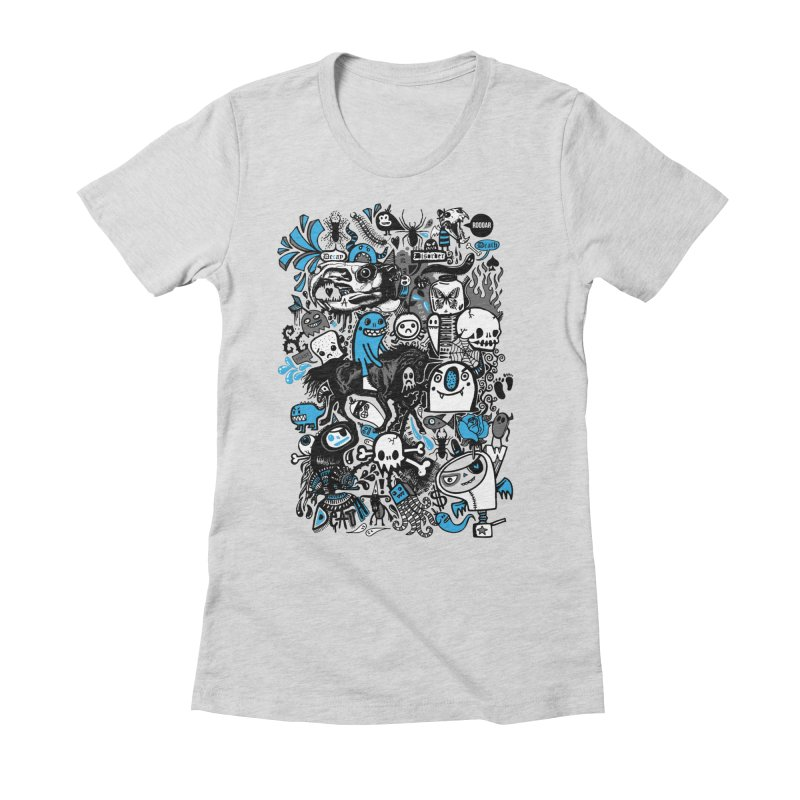 Guilty Pleasures Women's Fitted T-Shirt by wotto's Artist Shop
