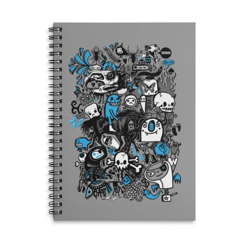 Guilty Pleasures Accessories Lined Spiral Notebook by wotto's Artist Shop