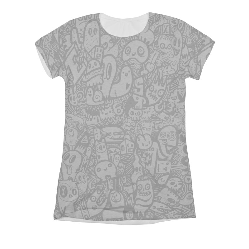 Doodlers Dynasty Women's Triblend All Over Print by wotto's Artist Shop