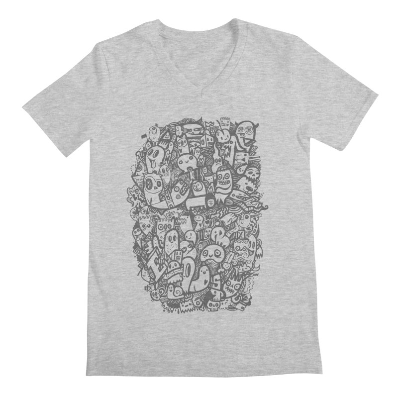 Doodlers Dynasty Men's V-Neck by wotto's Artist Shop