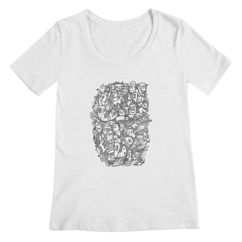 Doodlers Dynasty Women's Regular Scoop Neck by wotto's Artist Shop