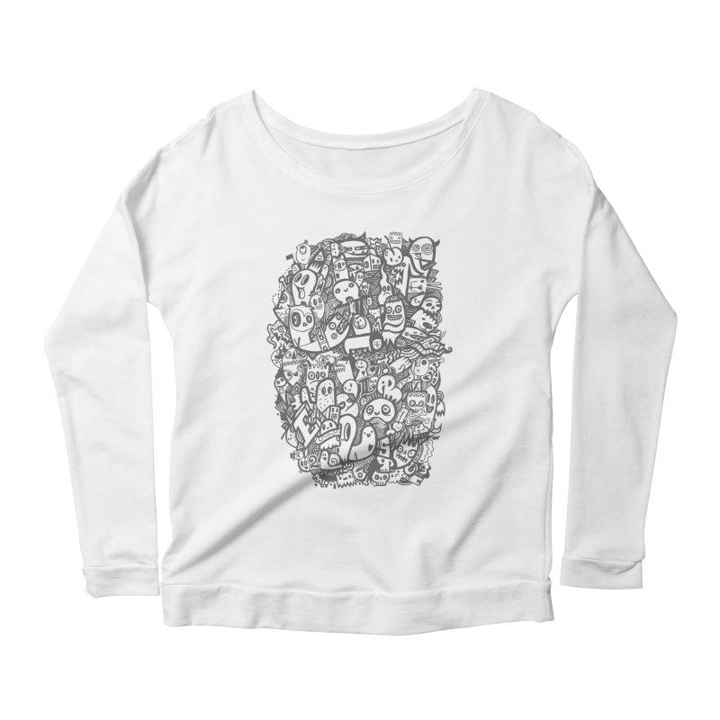 Doodlers Dynasty Women's Scoop Neck Longsleeve T-Shirt by wotto's Artist Shop