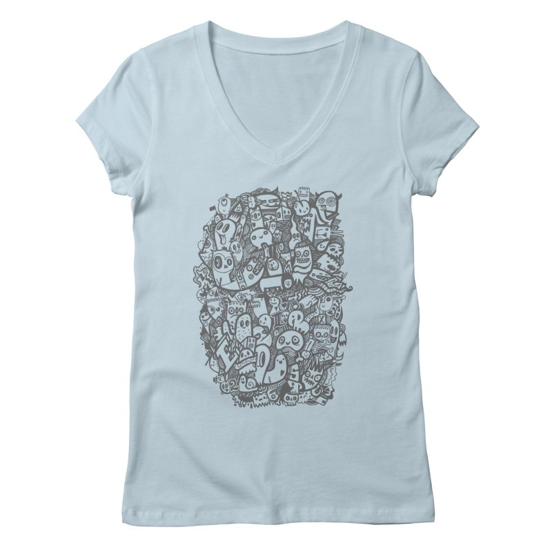Doodlers Dynasty Women's V-Neck by wotto's Artist Shop