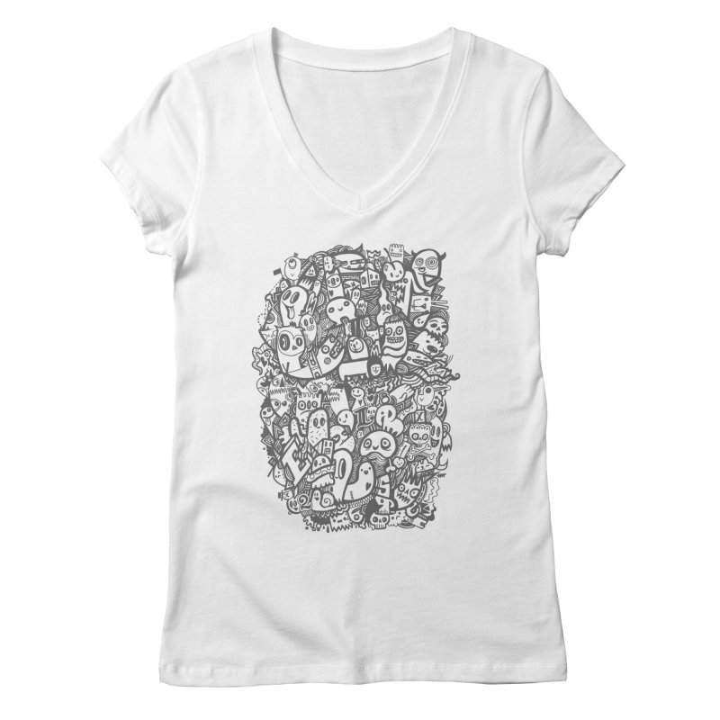 Doodlers Dynasty Women's Regular V-Neck by wotto's Artist Shop