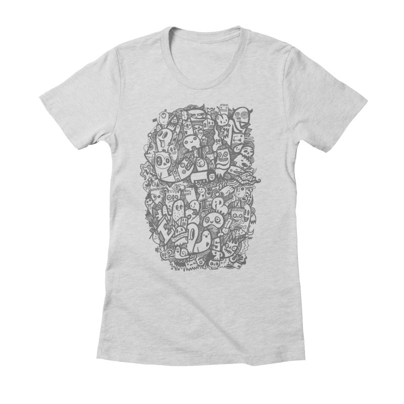 Doodlers Dynasty Women's Fitted T-Shirt by wotto's Artist Shop