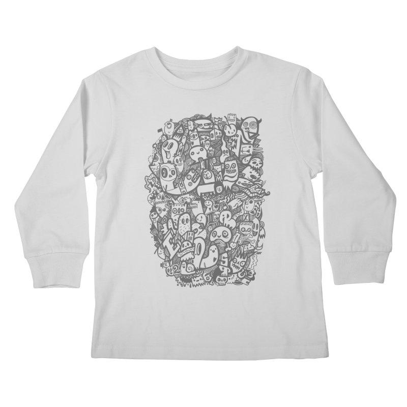 Doodlers Dynasty Kids Longsleeve T-Shirt by wotto's Artist Shop
