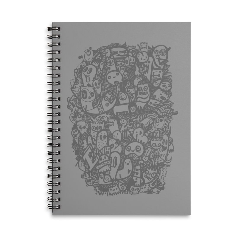 Doodlers Dynasty Accessories Lined Spiral Notebook by wotto's Artist Shop