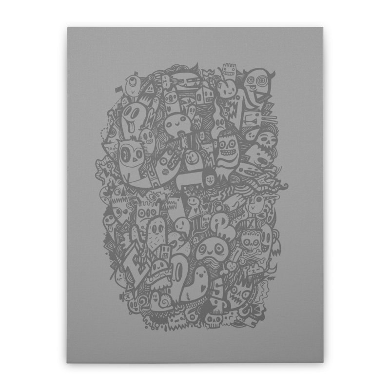 Doodlers Dynasty Home Stretched Canvas by wotto's Artist Shop