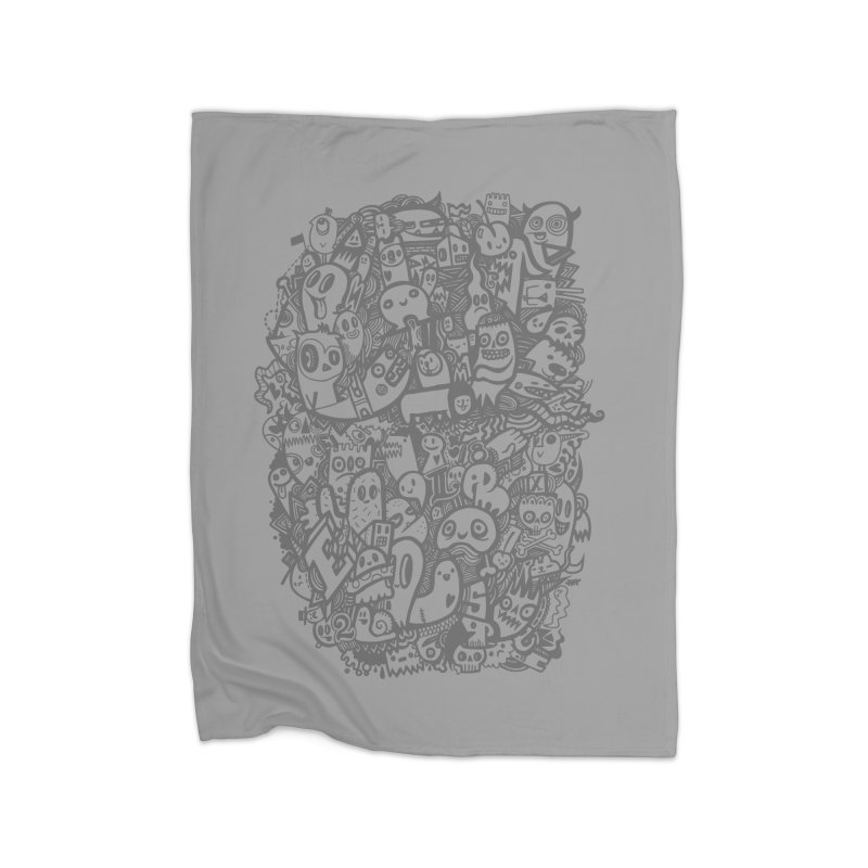 Doodlers Dynasty Home Fleece Blanket Blanket by wotto's Artist Shop