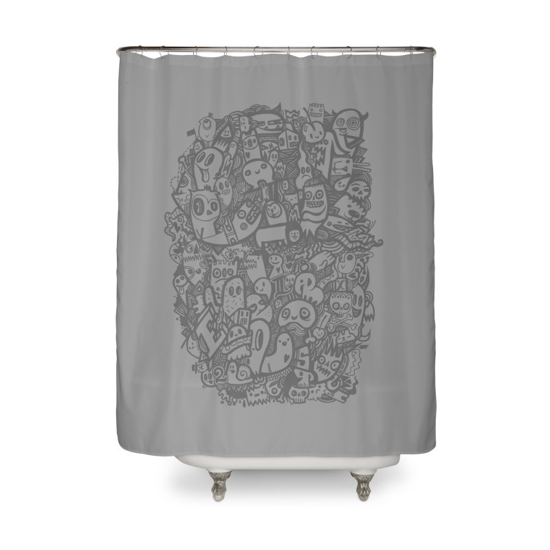 Doodlers Dynasty Home Shower Curtain by wotto's Artist Shop