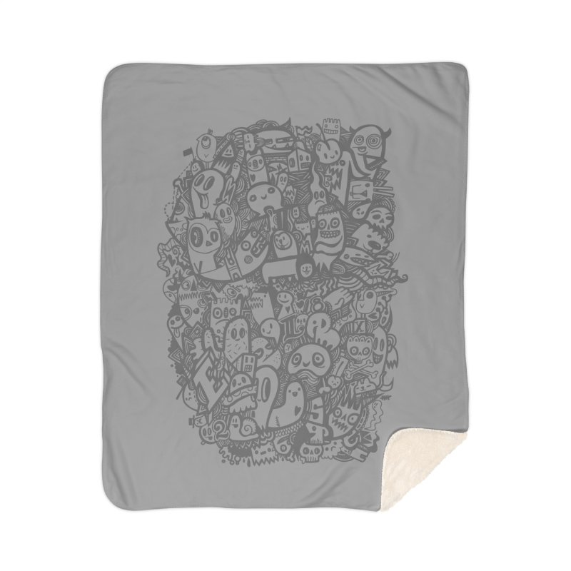Doodlers Dynasty Home Sherpa Blanket Blanket by wotto's Artist Shop