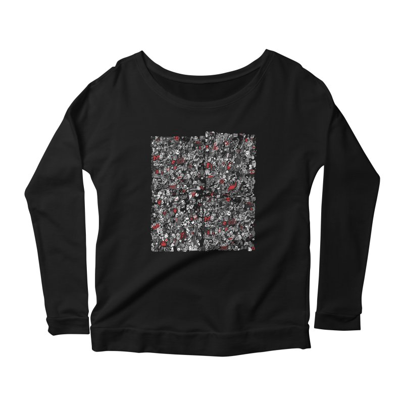 All of the Things Women's Longsleeve Scoopneck  by wotto's Artist Shop