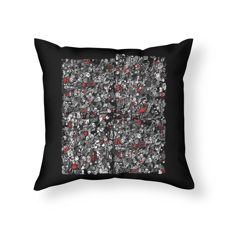 All of the Things Home Throw Pillow by wotto's Artist Shop